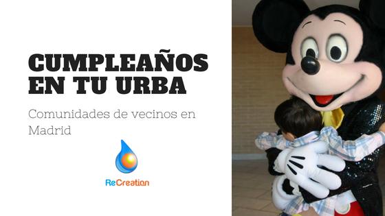 Cumpleaños en tu urba Madrid y alrededores