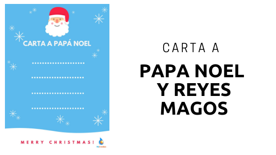 Imprime tu carta para Papá Noel y Reyes magos