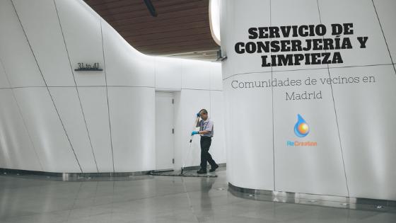Conserjería y limpieza servicio en comunidades