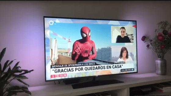 Quedate en casa. Mensaje de Spiderman a los niños