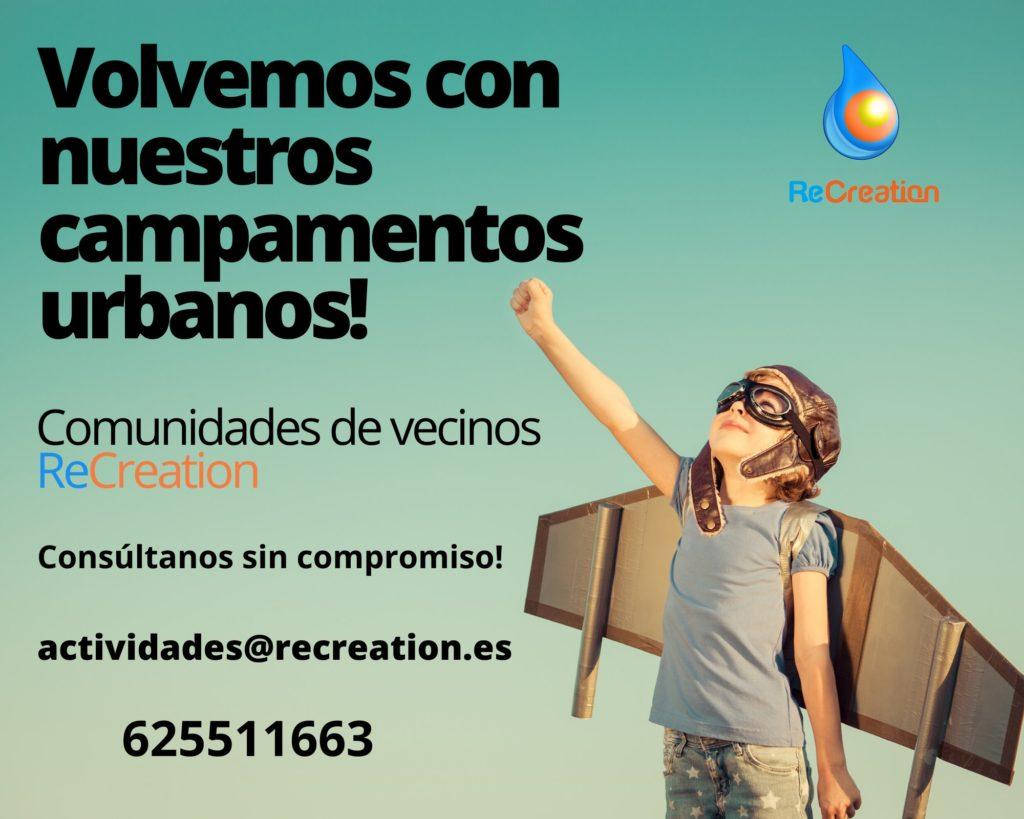 Campamentos en tu urbanización en Madrid